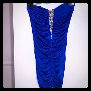 Size Medium Royal Blue Rhinestone Dress